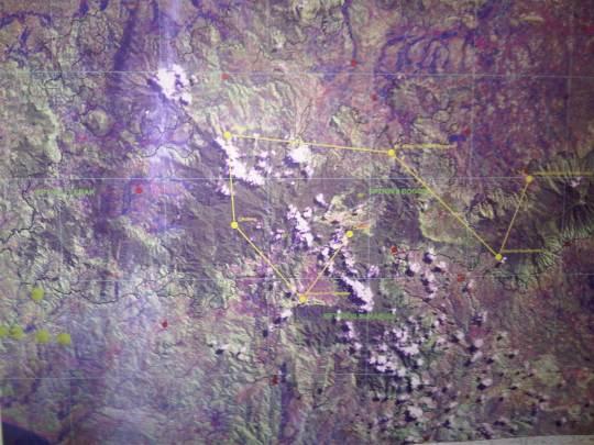 peta citra landsat taman nasional gunung salak