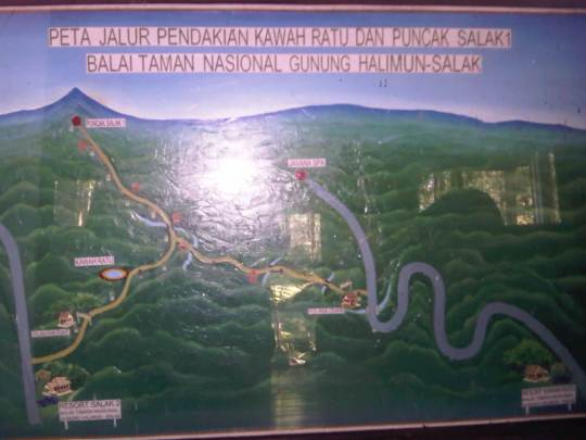 eta jalur pendakian Kawah ratu dan puncak Gunung Salak 1 balai taman nasional gunung halimun Salak