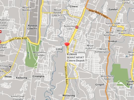 letak posisi (maps) Rumah sehat afiat Cinere Depok