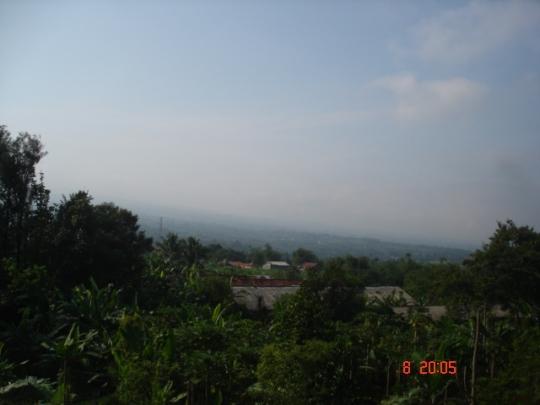 Pemandangan gunung gede pangrango dari pondok safinatussalam
